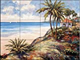 Seaside Vista by John Zaccheo Tile Mural for Kitchen Backsplash Bathroom Wall Tile Mural