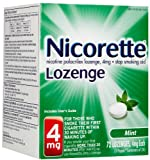 Nicorette Lozenges 4mg Mint Flavored 72 Ct