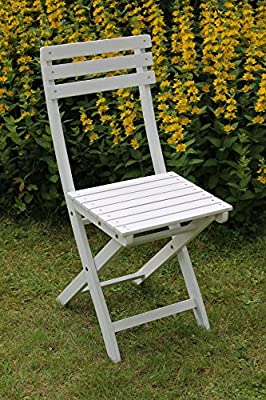 2er Set Bistro Klappstühle in Eukalyptus weiss für Garten und Balkon von Sedex auf Gartenmöbel von Du und Dein Garten