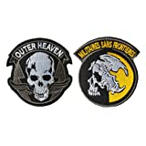 QTao UPA249 Hook & Loop Metal Gear Solid V 1980s Outer Heaven and Militaires Sans Frontieres Tactical Morale Patch Embroidered Appliques 2pcs (Color - 6) (Color: Color - 6)