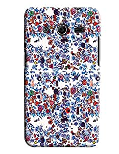 Blue Throat Floral Vector Printed Designer Back Cover/Case For Samsung Galaxy Core 2