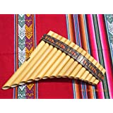 Pan Flute 15 Pipes Tunable Natural Bamboo From Peru Case Included Item in USA
