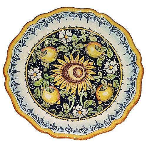CERAMICHE D'ARTE PARRINI - Italian Ceramic Art Pottery Serving Plate Dish Food Bowl Hand Painted Made in ITALY Tuscan (Hand Painted Dishes compare prices)