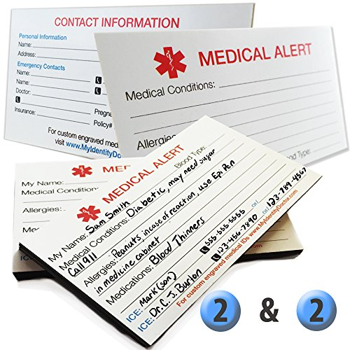 MyIDDr - 2 Medical Alert ID Magnets and 2 Medical Alert ID Cards Thick 400lb (Positive And Negative Magnets compare prices)