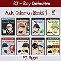 RJ - Boy Detective Books 1-8: Fun Short Story Mysteries Audiobook by PJ Ryan Narrated by Gwendolyn Druyor