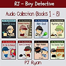 RJ - Boy Detective Books 1-8: Fun Short Story Mysteries (       UNABRIDGED) by PJ Ryan Narrated by Gwendolyn Druyor