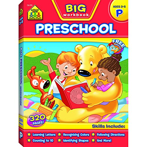 School zone publishing big preschool workbook set of 3