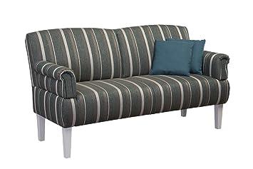 Cavadore 0522 3er Sofa , Schaumstoff, Turkis, 181 x 81 x 98 cm