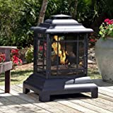 Lawn & Patio - Fire Sense Rectangle Pagoda Patio Fireplace