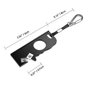 Housolution Portable Knife Sharpener - Mini Pocket Keychain Sharpener with Ring Foldable Knife Sharpening Tool Outdoor Sharpening Stone for Survival H