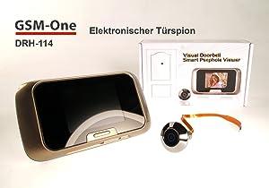 Digitaler Türspion DRH114 von GSMOne, 4GB Komplettpaket  BaumarktÜberprüfung und weitere Informationen