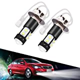 LTPAG 2pcs H3 LED Fog Lights Bulbs or DRL, 50W 2000 Lumens Automotive Fog Lamp Bulbs Replacements IP68 6000K Super Bright LED Driving Lights Xenon White, 2 Year Warranty (Color: H3)