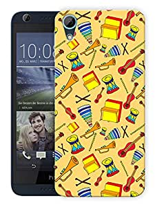"Humor Gang Musical Instruments Love Printed Designer Mobile Back Cover For ""HTC DESIRE 728"" (3D, Matte, Premium Quality Snap On Case)"