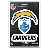 NFL San Diego Chargers Team Decal, 3-Pack