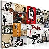 Bilder XXL & Fertig Aufgespannt & Top Leinwand + 1 Teilig + Banksy + Wand Bilder + 020115-59 + 90x60 cm +++ Riesen Bilder Kunstdruck Wand Bilder +++