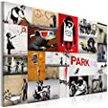 Impression sur toile + Images + 1 Parties + Banksy + Tableau + 020115-59 + 90x60 cm + CHOIX �NORME DES ImpressionS ARTISTIQUES DANS NOTRE BOUTIQUE+