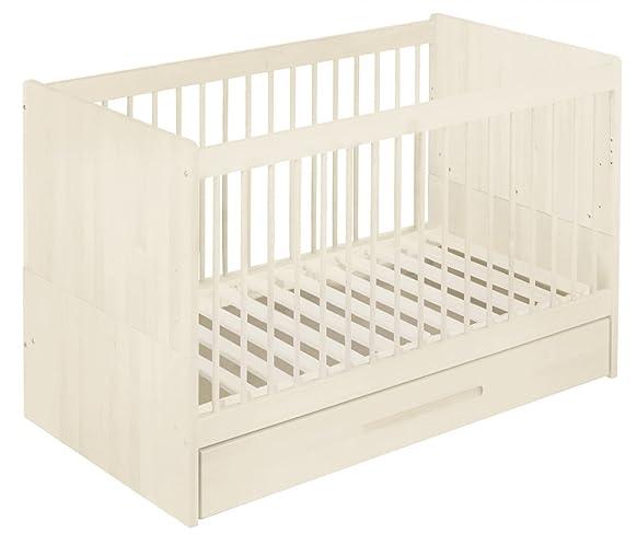 Risparmio set: Lina lettino lettino 70x140 cm con box letto, blanco