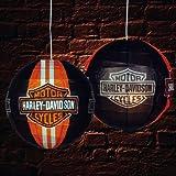 Pack of 3 Black Harley Davidson Chinese Paper Lantern