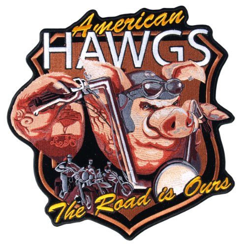 Hot Leathers American Hawgs Biker Patch (5