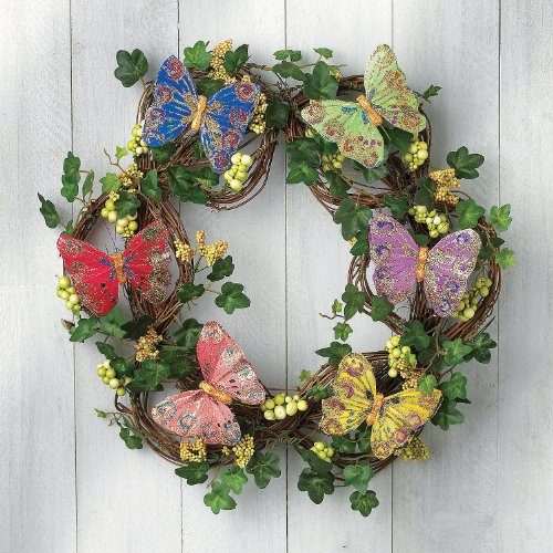 Butterfly Wreath - Home & Outdoor Decor