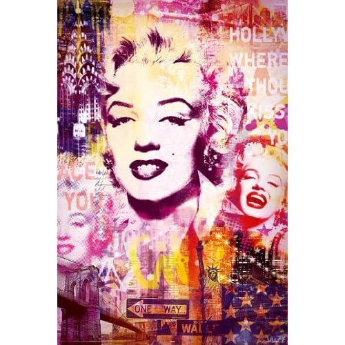 Amazon.com: 24x36 Poster Print Marilyn Monroe Graffiti Seven Year Itch