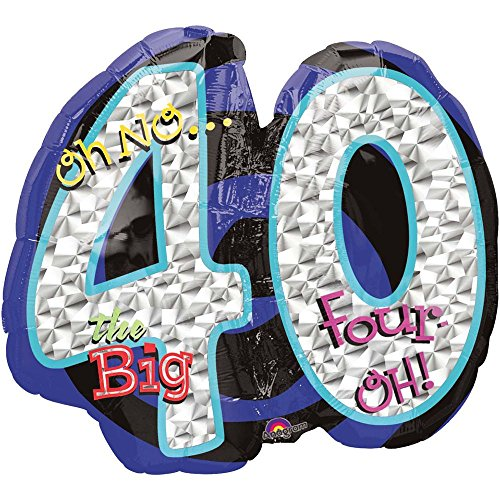 Oh No! 40Th Birthday Shaped Balloon - Party Supplies