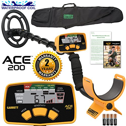 garrett-ace-200-metal-detector-with-waterproof-search-coil-and-carry-bag