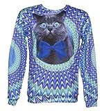Unisex Psychedelic Crazy Cat Jumper von Herrn Gugu Frulein g...