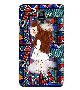 PrintDhaba Princess D-3146 Back Case Cover for SAMSUNG GALAXY NOTE 2 (Multi-Coloured)