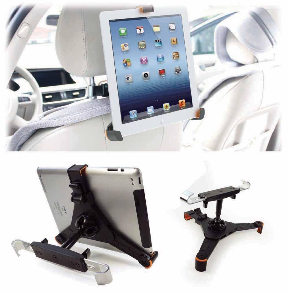 Tuff-Luv - Soporte universal para reposacabezas de coche para tablets de 7-8, color negro  Informática Comentarios de clientes y más Descripción