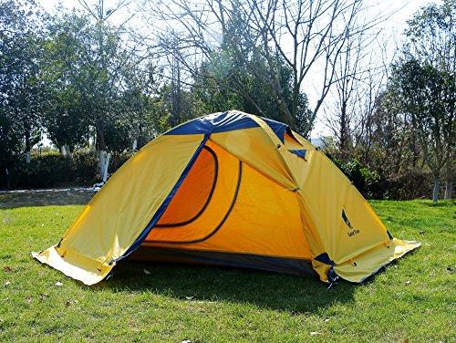 GEERTOP® 2-Personen 4-Jahreszeiten Aluminiumstangen Wasserdichten Camping Kuppelzelt – 140 x 210 x 115 cm – Ideal für Camping, Beim Klettern und Jagen - 2