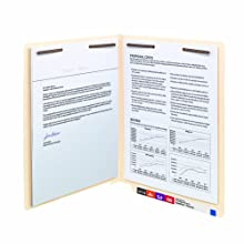 Smead End Tab Fastener File Folder, Shelf-Master® Reinforced Straight-Cut Tab, 2 Fasteners, Letter Size, Manila, 50 per Box (34215)