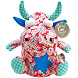 Trend Lab Mommy's Little Monster Patchwork Stuffed Toy, Red/Blue (Discontinued by Manufacturer)