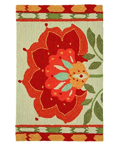 Homefires Rugs Ikat Bloom, Red, 22″ x 34″