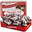 Golden State Fruit Premium Marbelized Dark and White Chocolate Peppermint Bark Gift Tin