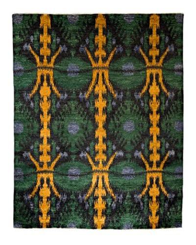 Darya Rugs Ikat Oriental Rug, Yellow, 7' 10 x 9' 10