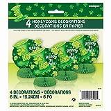 6 Mini Honeycomb Saint Patrick s Day Stripes Decorations, 4ct