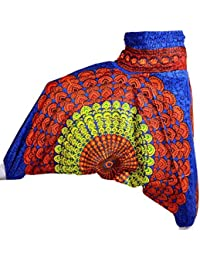 Rajsthani Mandala Hand Block Print Peacock Alibaba Afghani Trouser - B06ZYZTZHJ