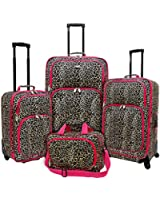 Travelers Choice U.S. Traveler Fashion 4-Piece Spinner Luggage Set