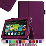 """Fintie Kindle Fire HD 7"""" (2013 Old Model) Slim Fit Folio Case with Auto Sleep / Wake Feature (will only fit Amazon Kindle Fire HD 7, Previous Generation - 3rd), Purple"""