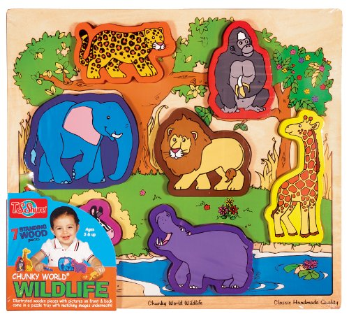 T.S. Shure Chunky World Wildlife Wooden Chunky Puzzle - 1