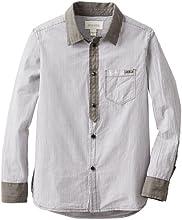 Diesel Big Boys39 Cidify Yarn Dyed Button Front Shirt
