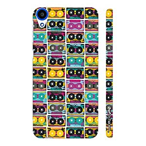 HTC Desire 820 The Old Way of Music - colourful designer mobile hard shell case by Enthopia