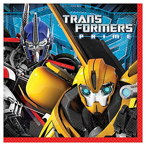 Unique Transformers Party Napkins (16 Count) - 1