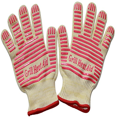 Revolutionary 932F Extreme Heat Resistant EN407 Certified Gloves - Thick but Light-Weight & Flexible, Ladies Small Size, 2 Gloves (Small Oven Gloves compare prices)