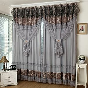 Fadfay home textile custom made curtains luxury jacquard curtains fancy curtain - Amazon curtains living room ...