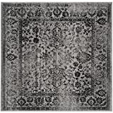 Safavieh Adirondack Collection ADR109B Grey and Black Square Area Rug, 6 feet Square (6' Square)