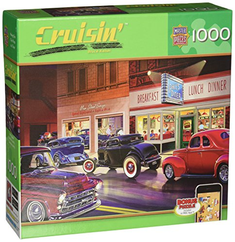 Masterpieces Phil's Diner Cruisin' Jigsaw Puzzle (1000-Piece) (Hot Rod Cars compare prices)
