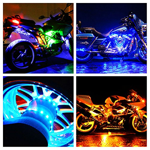 Axglow 12pc Universal Million Color Motorcycle Led Lights