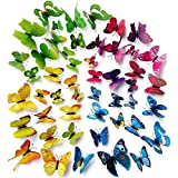 AWAKINK(TM) 96 Pcs 3d Butterfly Stickers Home Decoration DIY Removable 3d Vivid Special Man-made Lively Butterfly...